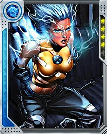 Surge was one of few mutants who kept her powers after the House of M reality deformation. Taking a new leadership role, Surge fought the demonic hordes of Limbo when their leader Belasco kidnapped the rest of the surviving young X-Men.