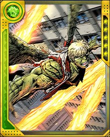 The aftermath of Uatu the Watcher's murder caused secrets to spill into the minds of millions of innocent beings. Hulkling was at the center of the heroes' response, protecting people from cosmic knowledge that threatened to drive them insane.