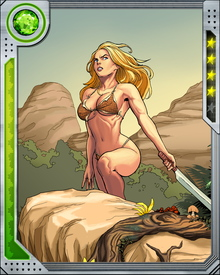 Shanna has a lifelong hatred of guns due to the circumstances of her mother's death. She would rather die than fire a gun. Killed during a mission guiding S.H.I.E.L.D. agents in the Savage Land, she was resurrected with the blood of a Man-Thing. After that, she felt an even deeper connection to the Savage Land.