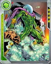 Mysterio' success comes from misdirection and liberal use of the effects he learned in the movie industry. He has also become a skilled workbench chemist, with a specialty in obscuring mists and hallucinogens.