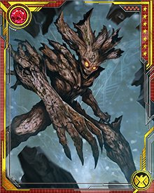 After he had regrown, following the destruction of the Babel Spire and the defeat of Annihilus, Groot joined the new incarnation of the Guardians of the Galaxy, forming a deep bond with Rocket Raccoon. He is in all likelihood the last survivor of his race, the Flora Colossi.