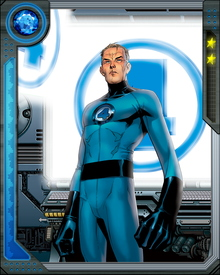 As Mr. Fantastic he can stretch his body to an estimated 1500 feet and can even stretch his body as thin as a paper.