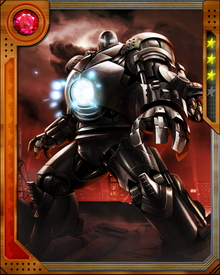 Rival of Tony Stark, Obadiah Stane becomes the president and CEO of his own company dedicated to weapon research.  He finds Stark's Iron Man armor blueprints and creates his own version of the suit, becoming Iron Monger.