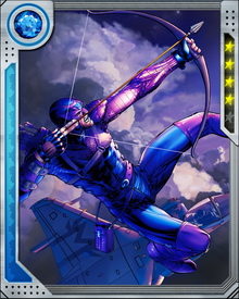 Hawkeye was sponsored by founding Avenger member Tony Stark to join the second incarnation of the super hero team.