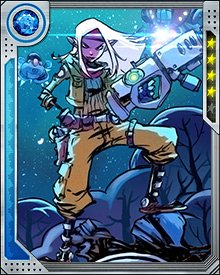 Amalya's one angry princess. She's so angry with Rocket that she founded the group known as the Ex-Terminators. Their mission? To exact revenge on Rocket Raccoon, with extreme prejudice.