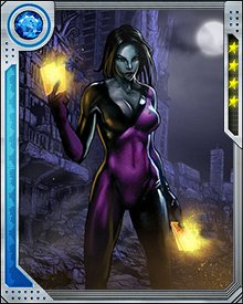 Tarot, as well as a number of other deceased—and previously depowered—mutants including the rest of her previous team the Hellions, was resurrected and repowered by the Transmode Virus. Post-resurrection, her powers had altered, permitting her to create aspects of the tarot on herself.