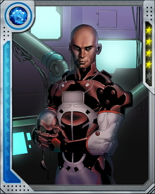 Ezekiel Stane has modified his own metabolism using reverse-engineered Stark technology, decreasing the amount of energy his cells need to function. The excess energy is diverted to weaponized biotechnology he has built into himself.