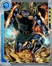 Victor Von Doom has escaped both death and incarceration on a number of occasions by using a process taught to him by the alien Ovoids. Through simple eye contact, Von Doom is capable of psionically transferring his consciousness into the body of another.