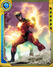 The experiments of Dr. Benjamin Savannah changed Mar-Vell's genetic structure, bestowing upon him the power to channel solar radiation. Using this power, he is able to fly, unleash blasts of photons, and survive by metabolizing solar energy.