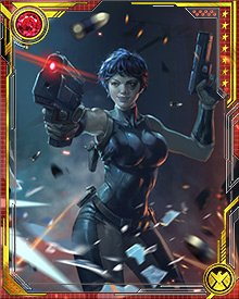In the middle of a gun battle, Domino is a difficult target, her body always shifting in subtle ways to make her harder to hit. These shifts have no effect on her own accuracy, however, which is deadly.