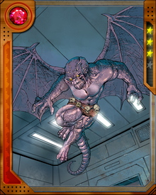 Dragon Man is an android given limited sentience by the villain Diablo's alchemical manipulations. He is easily provoked and prone to fits of rage, which has led numerous supervillains to use him as a pawn—which he later regrets.