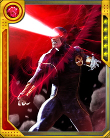 As the leader of the X-Men, Cyclops is a master tactician and leads the team during their numerous battles. His expert combat skills and heightened special awareness makes him an optimal leader.