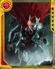 Thor's strength, endurance and resistance to injury is far greater than the other gods of Asgard.