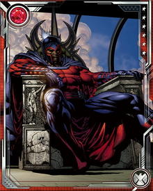 Magneto's powers extend down to the subatomic level. Given enough time and concentration he can even influence the behavior of the iron in red blood cells. Subatomic work isn't his specialty, though. He tends to go more for the grand gesture, like lifting a submarine or diverting a missile barrage.