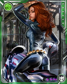 In addition to being an expert in the use of various automatic weapons, firearms, combat knives and explosives, Natasha Romanova's main weapon of choice is her Widow's Bite, which is capable of producing highly potent electric shocks with a maximum of about 30,000 volts.