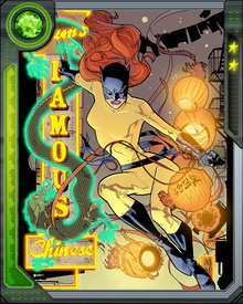 She fell in love with Daimon Hellstrom, but his resurgent demonic nature drove her mad and condemned her to imprisonment by the demon Mephisto. Freeing herself, she returned to the mortal plane and resumed her role with the Defenders.