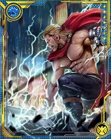After the events surrounding the murder of Uatu, Thor lost the ability to wield Mjolnir. He took up Jarnbjorn again, and during a battle with Malekith, the Dark Elf cut Thor's arm off with Jarnbjorn. Thor was then given an arm made of Uru, created by the dwarven smith Screwbeard.
