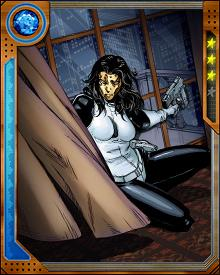 Giulietta Nefaria became Madame Masque after rising through the ranks of the Maggia and infiltrating S.H.I.E.L.D. by means of a romance with Jasper Sitwell. The plan went awry and she suffered a disfiguring accident, after which she was never seen without her signature golden mask.
