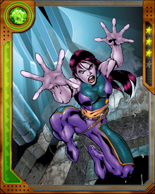 Growing up among the Morlocks, a subterranean society of mutants who could not pass for normal, the young Marrow observed the Marauders' massacre of the Morlocks and survived only by the chance intervention of Gambit. Scarred by the experience, she joined the terrorist Gene Nation before later becoming a member of the X-Men.