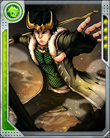 The reborn Loki had a companion bird called Ikol, which he ate upon realizing his true nature. This act restored the old Loki's nature to him, and now in the guise of a young man, he is haunted by the specter of the young Loki, who serves as his conscience.