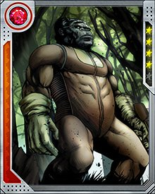 Thrill-seeking soldier of fortune Kenneth Hale heard of the legend of the gorilla-man, and went looking to kill it and absorb its powers of immortality. He changed his mind at the last minute, but was forced to kill the creature anyway, becoming Gorilla-Man himself as a result.