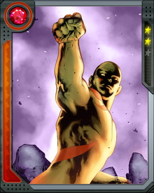 Killed by Thanos and resurrected by Kronos to fight him again, musician Art Douglas became known as Drax. He has tangled with Thanos several times, as well as Galactus and other cosmic threats, and has traveled the galaxy and across dimensions.