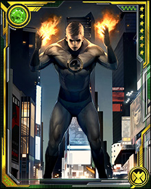 When the Fantastic Four is needed, the Human Torch streaks into the sky, creating a fiery trail in the shape of a '4'—both to summon his allies and to let civilians know that help is on the way.