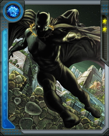 Black Panther's costume is woven from the rare substance known as Vibranium which absorbs  kinetic energy.