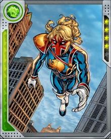At the moment of her resurrection as Captain Britain, Kelsey Leigh had to make a choice of what she would use to defend herself: amulet or sword. Not understanding the nature of the choice, she chose sword, and suffered terrible remorse when she learned that if she ever told her children what had happened to her, they would die.