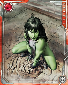 She-Hulk recently started her own law firm in Brooklyn, where she intends to trade on her connections within the superhero community. In addition to investigating a mysterious lawsuit against several prominent heroes, she has a highly unusual new client: the son and heir of Doctor Doom.