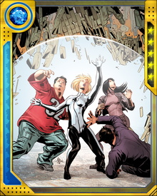 In the aftermath of Johnny Storm's supposed death, the Fantastic Four recreated itself as the Future Foundation. This team survived an attack from the Negative Zone, after which they discovered that Johnny Storm was alive.