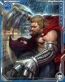 Before he was granted possession of Mjolnir, Thor fought with the enchanted axe Jarnbjorn. It served him well, with enchantments protecting him from almost any attack, and an edge so keen that it can even cut through the armor of Celestials.