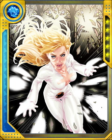 Dagger's name comes from her ability to throw daggers of light. These can damage enemies, but they also force targets to confront the darkness in their souls. Occasionally, from this enforced enlightenment, positive effects can come. Dagger's light also helps Cloak to grapple with the negative effects of his own powers.