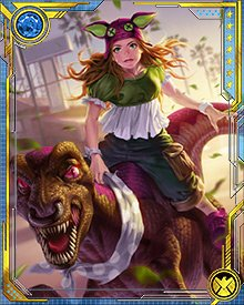 Even though she's a mutant hero and a member of a powerful team, used to facing down dire threats to human civilization, Molly's still just a pre-adolescent girl at heart. So when she gets a chance to do something whimsical like ride Old Lace, she takes it.