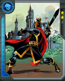 The most recent Black Knight and bearer of the magical Ebony Blade, Dane Whitman has fought at the side of the Avengers and on his own. He carries the knightly spirit of chivalry as well as his sword, upholding a lineage that stretches back to the 6th Century.