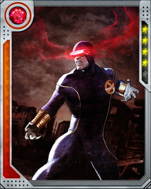 Cyclops' optic beams are a result of his body metabolizing and converting sunlight and ambient energy. The intensity of his optic beams is a result of the amount of energy his body reserves.