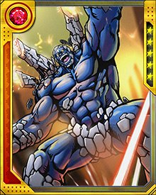 Post became an underling of Onslaught, and fought X-Factor to aid the Sentinels' attacks on mutants. His powers, including immense strength, cybernetic weaponry, a cloaking field, and teleportation, make him a deadly opponent even to mutants as powerful as Cable.