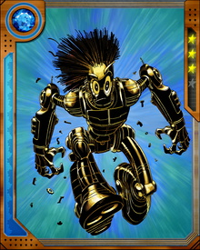 Warlock is a Technarch, a member of an alien race from Kvch that survives by infecting other organisms with the techno-organic virus and then feeding on their life force. He is the son of Magus, the ruler of the Technarchy, but rebelled against the norms of his race by feeling compassion for the sentient beings on which they fed.