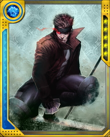 Before joining the X-Men, Gambit nearly caused a war between the Thieves' Guild of New Orleans and that city's Assassins' Guild. Only his banishment averted a bloody conflict.