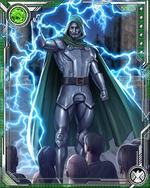 It emerges that Doctor Doom himself was the cause of the decay of the Multiverse—unintentionally, by his very existence. He gathered a force of Black Swans about him to fight by his side, and also stood with Molecule Man against the Beyonders, with the fate of the Multiverse in the balance.