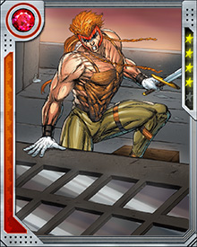 Shatterstar's hollow bones make him impossibly quick for a man of his size and mass. He also can shift his organs inside his body to avoid serious injury. Both engineered mutations made him a particularly dangerous gladiator in the Mojoverse.