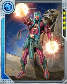 Instead of dying on Xandar, Sphinx absorbed that planet's knowledge and energy, becoming vastly more powerful. He battled Galactus and the Fantastic Four before dying and being resurrected several times. The Ka stone is gone, but Sphinx remains a powerful opponent of the New Warriors.