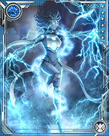 Weather Witch has the ability to create and control a vast array of weather effects. She can fly by gliding on wind currents and create destructive blasts of lightning.
