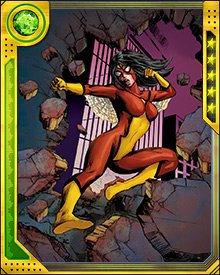 During the Siege of Asgard, Spider-Woman fought the Mandrill and was forced under his control. Spider-Man later rescued her and the two defeated Mandrill and Griffin. Then they were able to rejoin the Avengers for the climactic battle for Asgard.
