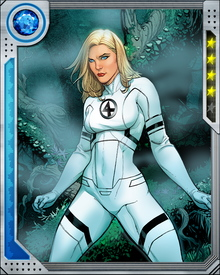 "Manipulated by events set into motion by Psycho-Man, Susan Storm Richards became Malice and attacked her friends and family in the Fantastic Four, utilizing her abilities at power levels she had never displayed previously. Susan found herself profoundly affected by the entire episode, and decided to change her code name from ""Invisible Girl"" to ""Invisible Woman."""