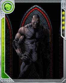 Erik learned the skills of vampire hunting and became Blade. Blade now stalks Vampires using his Super Human strength, speed, agility, and healing factor to protect humanity.