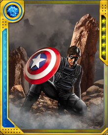 The Winter Soldier has a cybernetic arm, upgraded over the years as the best minds at S.H.I.E.L.D. developed newer and better technologies. The current version of the arm can project disabling electromagnetic pulses and electrical energy. It is also superhumanly strong and quick. A holographic illusion makes it look like a flesh-and-blood arm.