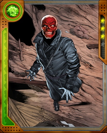 The Red Skull has maintained a cover identity as Dell Rusk, a prominent member of the World Security Council. In this guise he has attempted to manipulate S.H.I.E.L.D. and undermine other threats to the worldwide primacy of Hydra.