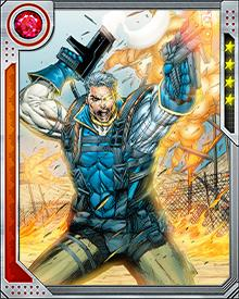 One feature of Cable's cybernetic arm is that he can transform it into a weapon: a cluster of techno-organic spikes or spears, that can act as tentacles as well. This ability is difficult for him to use and often is unavailable for some time after a single use.