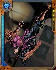 When Jennifer Kale was a young girl, she played around with magic. One of her earliest experimentations with the arcane arts accidentally set a Hell-Lord loose on Earth! Ever since that time, she has become more focused and better trained. She is a powerful sorceress.